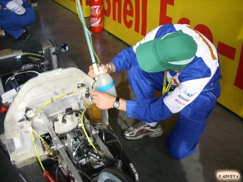 Mesure de la consommation de carburant au Shell Eco-marathon (véhicule à essence)